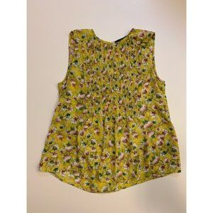 Zara Collection Sleeveless Floral Blouse Size XS